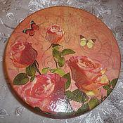 Для дома и интерьера ручной работы. Ярмарка Мастеров - ручная работа шкатулка розы. Handmade.