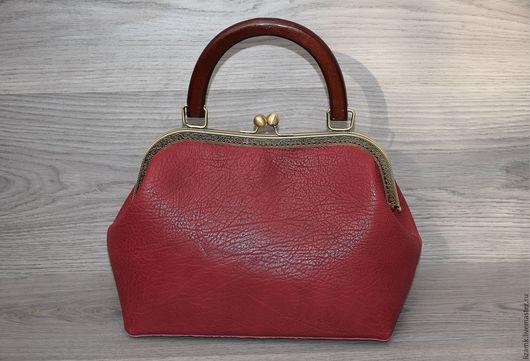 Женские сумки ручной работы. Ярмарка Мастеров - ручная работа. Купить Сумочка Бордо.............. Handmade. Бордовый, сумка из натуральной кожи