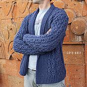 Одежда handmade. Livemaster - original item Cardigan mens knitted. Handmade.