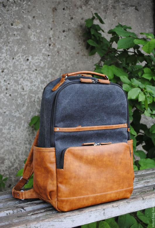 Рюкзаки ручной работы. Ярмарка Мастеров - ручная работа. Купить Z006C. Handmade. Рыжий, авторская ручная работа, кожа натуральная