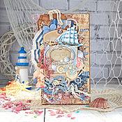 """Открытки ручной работы. Ярмарка Мастеров - ручная работа Открытка """"Blue Sea"""". Handmade."""