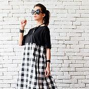 Одежда ручной работы. Ярмарка Мастеров - ручная работа Летнее платье, платье в клетку. Handmade.
