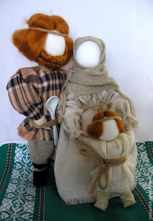 """Народные куклы ручной работы. Ярмарка Мастеров - ручная работа. Купить Народные куклы """"Семья"""". Handmade. Разноцветный, подарок"""
