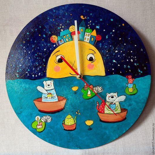 Часы для дома ручной работы. Ярмарка Мастеров - ручная работа. Купить Часы для интерьера детской. Handmade. Часы ручной работы
