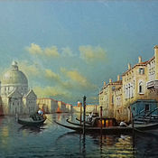 Картины и панно handmade. Livemaster - original item Grand Canal in Venice/ 80h100 cm / oil on canvas. Handmade.
