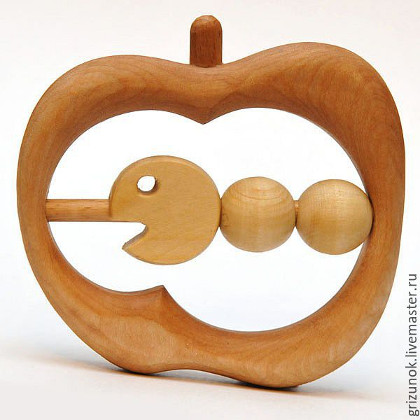 Wooden rattle Very hungry caterpillar