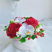 Цветы и флористика ручной работы. Ярмарка Мастеров - ручная работа Букеты из полимерной глины  в наличии. Handmade.