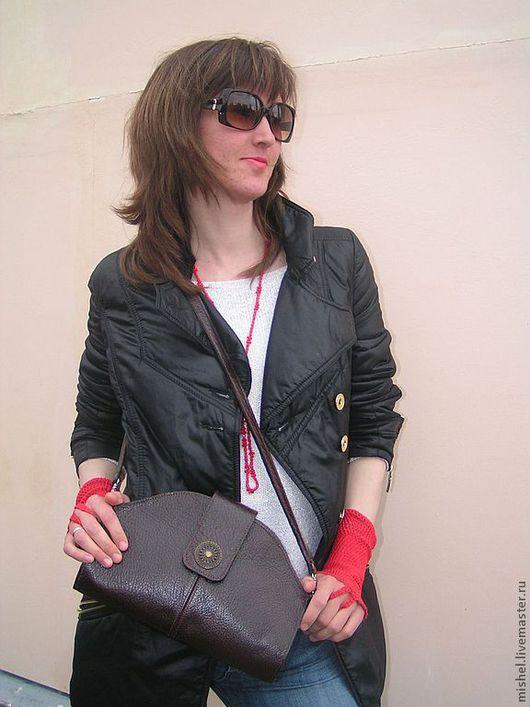 """Женские сумки ручной работы. Ярмарка Мастеров - ручная работа. Купить Клатч """"коричневый """". Handmade. Кожа"""