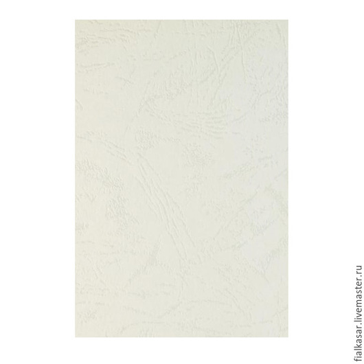 Картон белый 230 г/м тисненый Кожа для скрапбукинга, для переплета