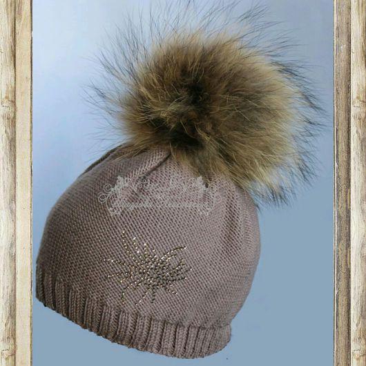 Шапки и шарфы ручной работы. Ярмарка Мастеров - ручная работа. Купить теплая детская шапочка  мериносовая шапочка. Handmade.