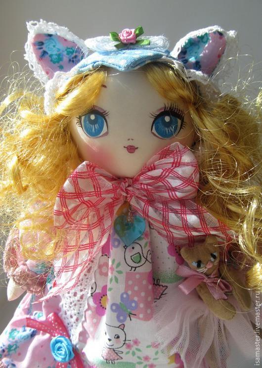 Коллекционные куклы ручной работы. Ярмарка Мастеров - ручная работа. Купить Лера, голубые розы. Handmade. Разноцветный, аниме, Нэко