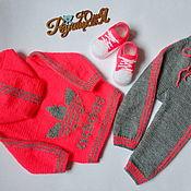 Одежда детская handmade. Livemaster - original item Tracksuit Adidas for girls. Handmade.