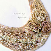 Украшения handmade. Livemaster - original item felted necklace, necklace, Amina necklace. Handmade.