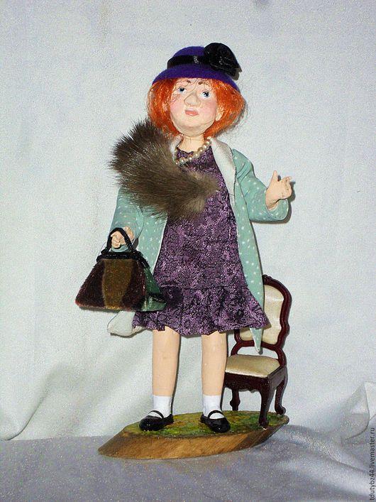 Коллекционные куклы ручной работы. Ярмарка Мастеров - ручная работа. Купить МАДАМ ГРИЦАЦУЕВА авторская кукла. Handmade. Комбинированный, кукла