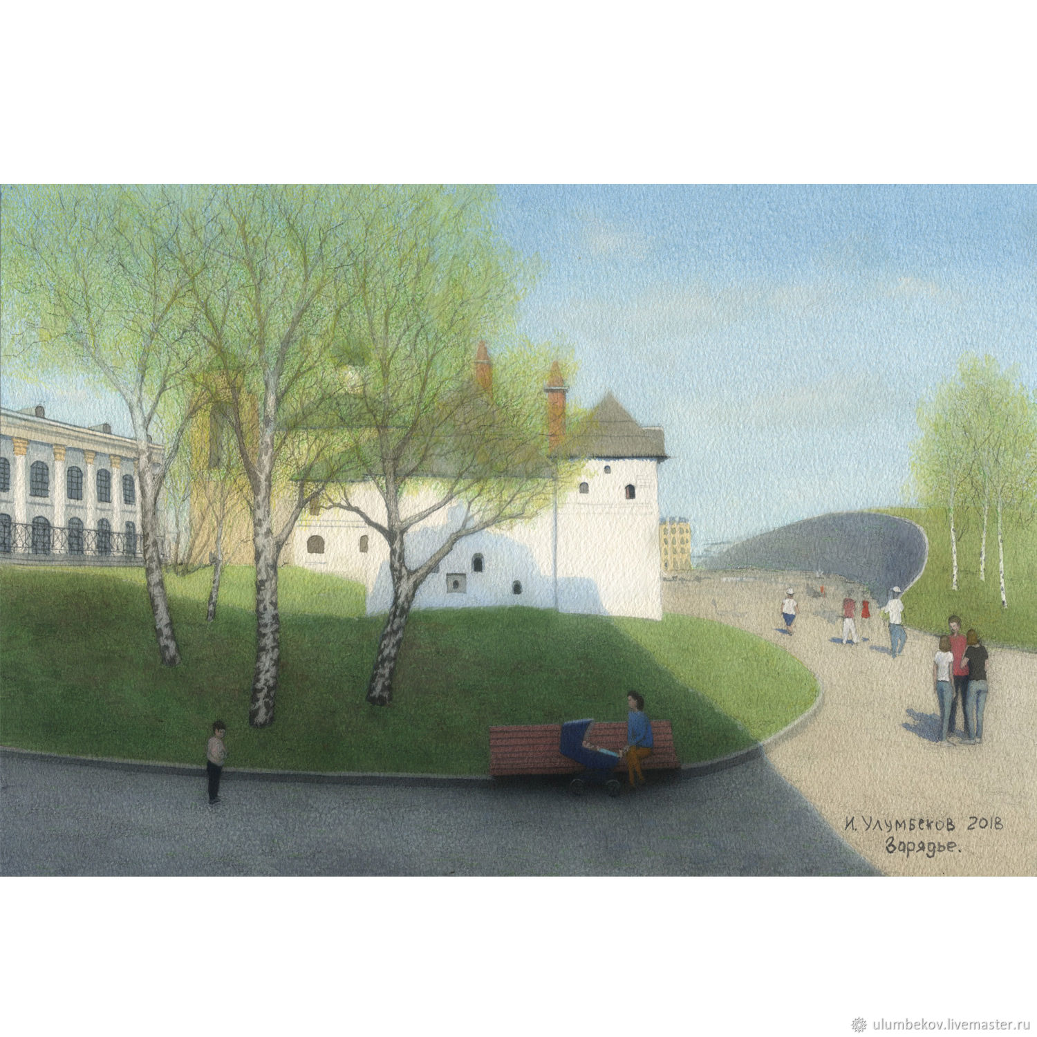 Reproductions of artists Moscow Zaryadye watercolor paintings, Pictures, Moscow,  Фото №1