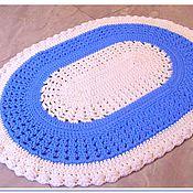 Для дома и интерьера handmade. Livemaster - original item Oval rug handmade Blue tenderness. Handmade.