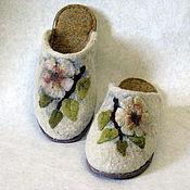 """Обувь ручной работы. Ярмарка Мастеров - ручная работа тапочки """"радость бытия"""". Handmade."""