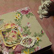 Канцелярские товары ручной работы. Ярмарка Мастеров - ручная работа Цветочный блокнотик. Handmade.