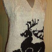 Одежда ручной работы. Ярмарка Мастеров - ручная работа Жилет женский из натуральной шерсти. Handmade.
