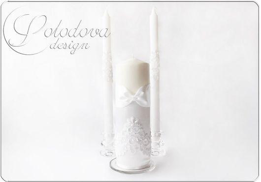 """Свадебные свечи """"Мадемуазель и Джентльмен"""" Семейный очаг,родительские свечи,свечи для свадьбы,свечи молодым,свадебные аксессуары ручной работы."""