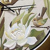 "Для дома и интерьера ручной работы. Ярмарка Мастеров - ручная работа ""Весна"" из песка часы авторские. Handmade."