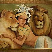 Картины и панно ручной работы. Ярмарка Мастеров - ручная работа Дочь джунглей. Handmade.