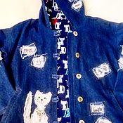 Одежда ручной работы. Ярмарка Мастеров - ручная работа Куртка из джинсовой ткани. Handmade.