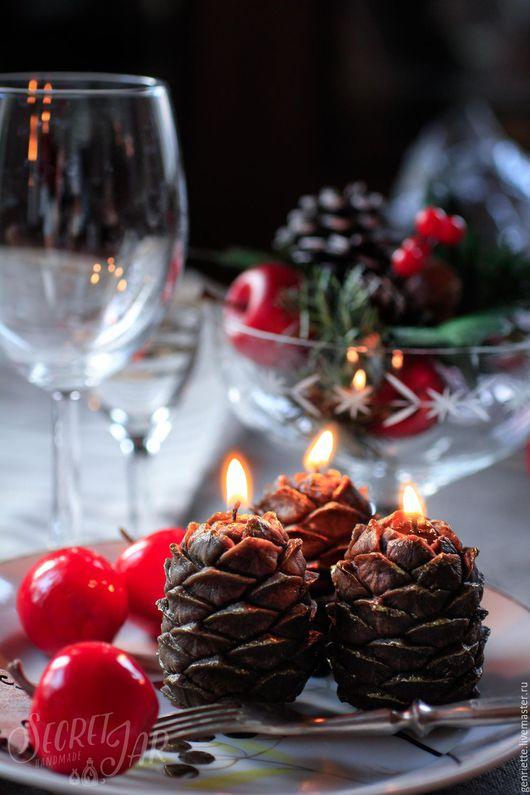 Свечи ручной работы. Ярмарка Мастеров - ручная работа. Купить Ароматические свечи-шишки. Handmade. Коричневый, свеча, воск для свечей