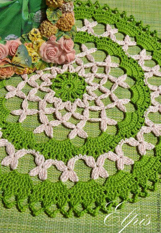 """Текстиль, ковры ручной работы. Ярмарка Мастеров - ручная работа. Купить Салфетка """"Весна"""". Handmade. Салфетки, салфетки вязаные"""