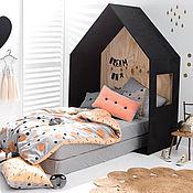 Для дома и интерьера ручной работы. Ярмарка Мастеров - ручная работа №16. Детская кроватка домик с чердаком. Handmade.
