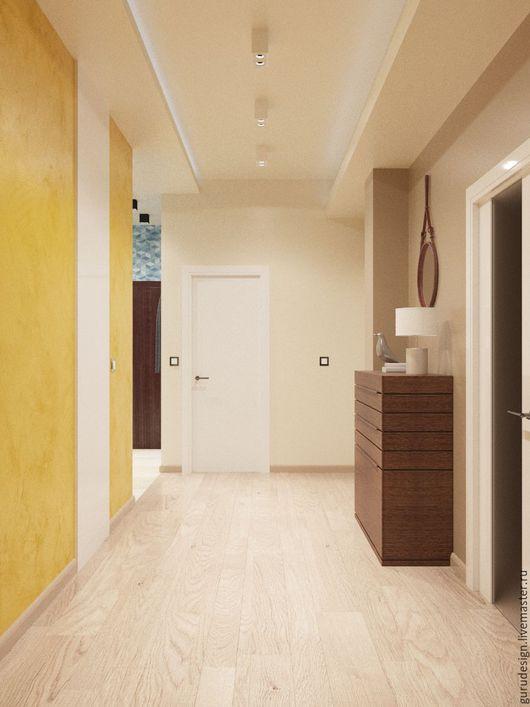 Дизайн интерьеров ручной работы. Ярмарка Мастеров - ручная работа. Купить коридор-холл. Handmade. Комбинированный, холл
