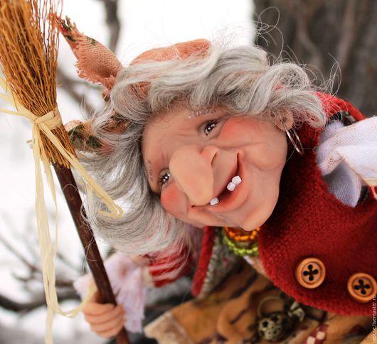 Коллекционные куклы ручной работы. Ярмарка Мастеров - ручная работа. Купить Ёжка-Веселушка. Handmade. Баба яга, текстиль