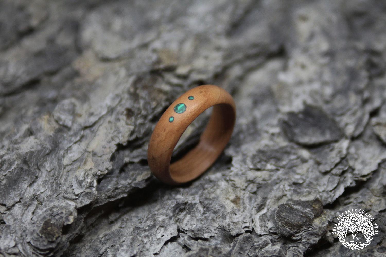Кольцо с малахитом из дерева, Кольца, Санкт-Петербург, Фото №1
