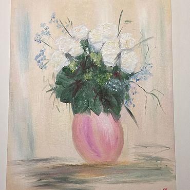 Картины и панно ручной работы. Ярмарка Мастеров - ручная работа Картина «Розы». Handmade.