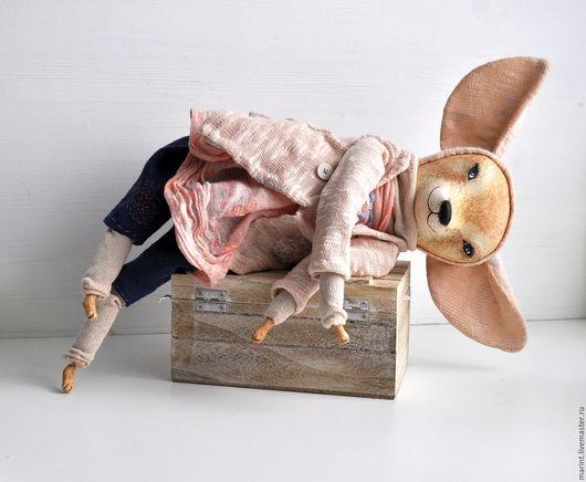 Коллекционные куклы ручной работы. Ярмарка Мастеров - ручная работа. Купить Хитрюшка лисичка фенек Фифи интерьерная кукла. Handmade.