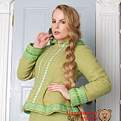 Одежда handmade. Livemaster - original item The so dushegreyku wool light green. Handmade.