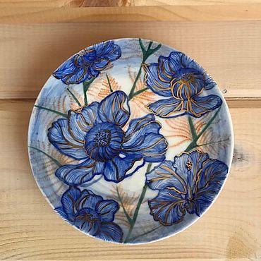 Посуда ручной работы. Ярмарка Мастеров - ручная работа Керамическая тарелка «Сон в летнюю ночь». Handmade.