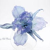 Brooches handmade. Livemaster - original item Iris silk
