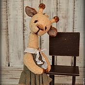 Куклы и игрушки handmade. Livemaster - original item Dasha copyright zhirafik Teddy, friends Teddy bears. Handmade.