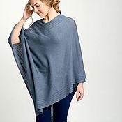 Одежда handmade. Livemaster - original item Women`s poncho, grey poncho, cashmere poncho, cashmere cape, wool ponc. Handmade.