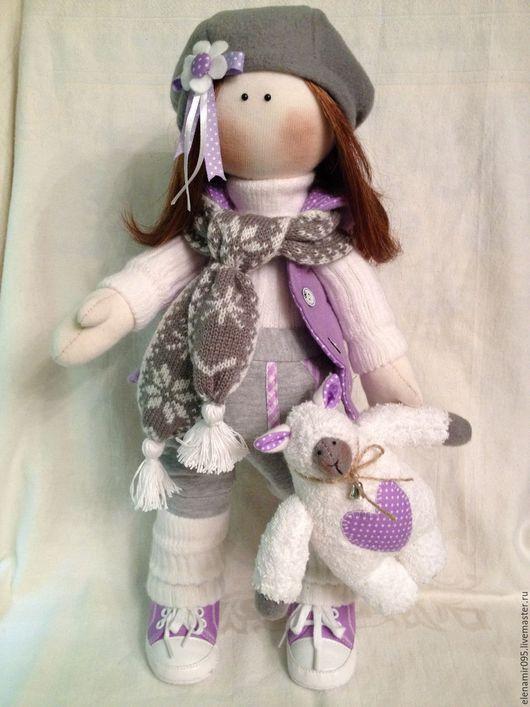 Куклы Тильды ручной работы. Ярмарка Мастеров - ручная работа. Купить кукла текстильная интерьерная. Handmade. Сиреневый, кукла интерьерная