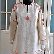 Одежда handmade. Livemaster - original item Shirt linen Slavic amulet with a cleat on fabric. Handmade.