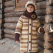 Работы для детей, handmade. Livemaster - original item Coat for girl