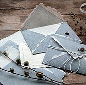 """Канцелярские товары ручной работы. Ярмарка Мастеров - ручная работа """"Белая ночь""""- бумага  и конверты ручной работы. Handmade."""