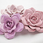 Для дома и интерьера ручной работы. Ярмарка Мастеров - ручная работа Розы - керамические цветы для интерьера. Handmade.