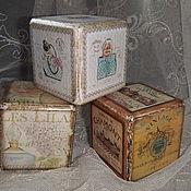 Для дома и интерьера ручной работы. Ярмарка Мастеров - ручная работа Кубики из чуланчика.. Handmade.