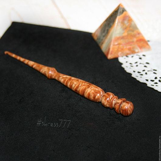 Персональные подарки ручной работы. Ярмарка Мастеров - ручная работа. Купить Крючок из морёной Карельской берёзы, крючок для вязания. Handmade.
