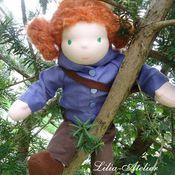 Куклы и игрушки ручной работы. Ярмарка Мастеров - ручная работа Рыженькая куколка. Handmade.
