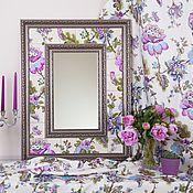 """Для дома и интерьера ручной работы. Ярмарка Мастеров - ручная работа Зеркало """"Цветы"""". Handmade."""