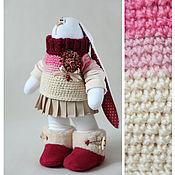 Куклы и игрушки ручной работы. Ярмарка Мастеров - ручная работа Зайцы. Зайка девочка с сердцем. Handmade.